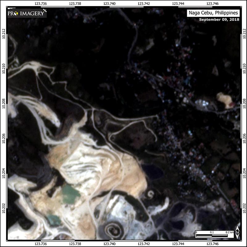 Pre-landslide Satellite imagery